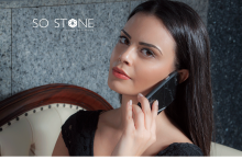 SO STONE REAL BLACK MARBLE CASE for iPhone 6/6S